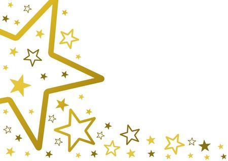 letras doradas: Las estrellas de fondo Vectores