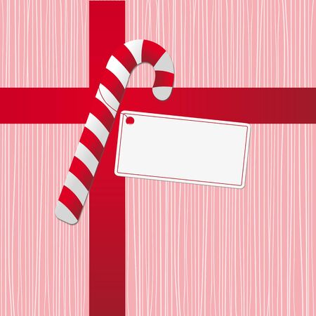 xmas concept with stripy candy cane  Vector