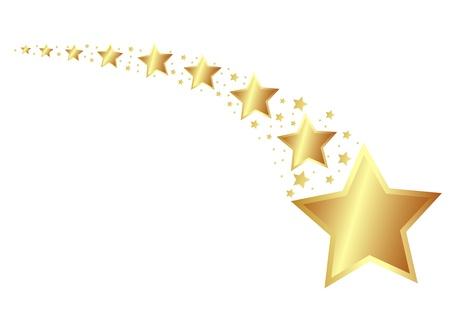 Golden Stars Stock Vector - 11637682