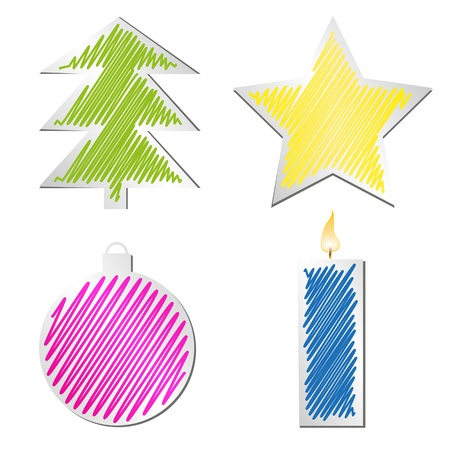 abstract pattern christmas  Vector