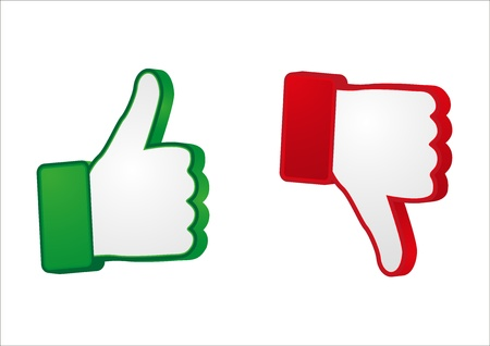 like button: thumb up and down gesture