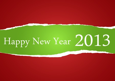 Torn Paper with wishes for 2013 Vector