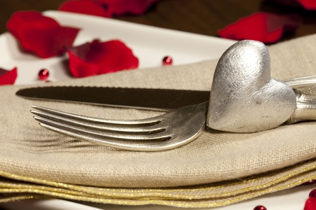 Place setting for Valentine photo