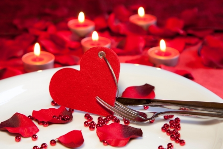 Candle light dinner Stock Photo - 12207635