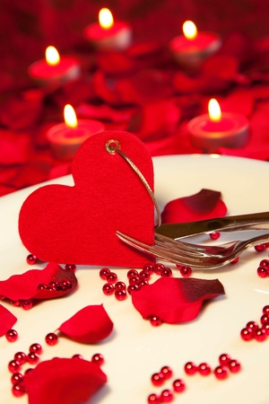 romantic dinner: Valentine`s day Stock Photo