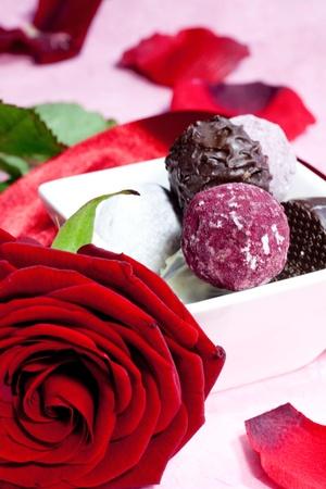 praline: chocolade pralines Stockfoto