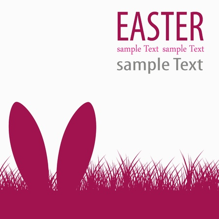 easter holiday: Easter bunny ears Illustration
