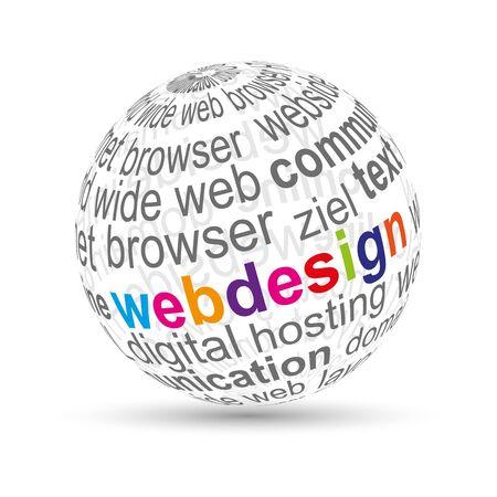 concepteur web: Webdesign boule 3D
