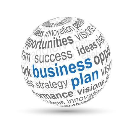 3D Ball  business plan  Vector
