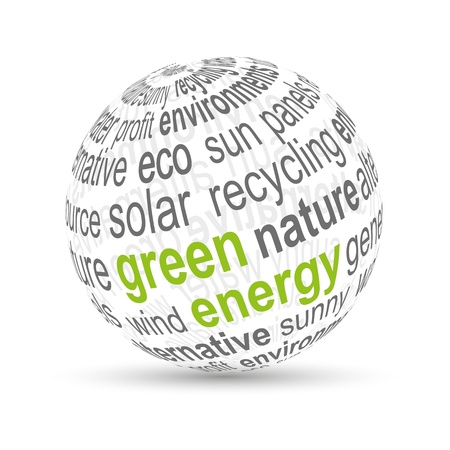 renewable energy: 3D Ball  green energy