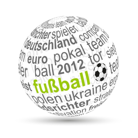 3D Ball football Vector