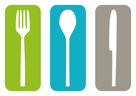 knife fork spoon: Cutlery Icons