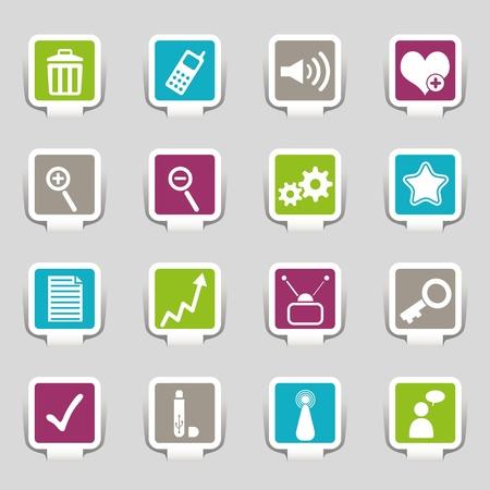 16 Internet Icons Stock Vector - 12910819