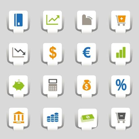 16 Web Icons Money Stock Vector - 12835806