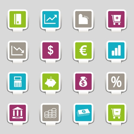 16 Internet Icons Money Stock Vector - 12835807