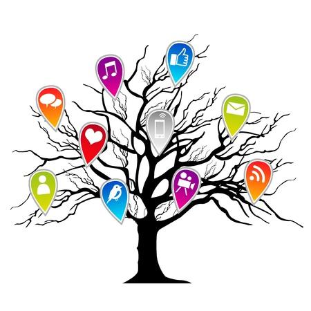 social media Stock Vector - 13174370