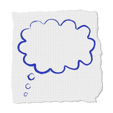 Cloud on paper Vector
