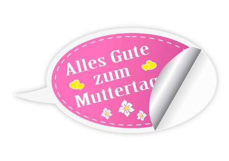 Mothers day button - German language Vector