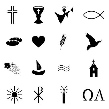 santa cena: Signos Religión Vectores
