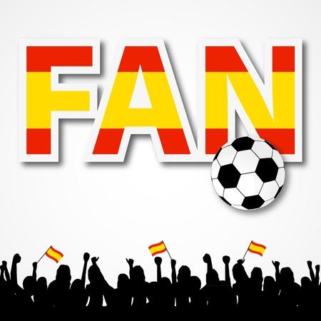 Soccer Fan Spain Illustration