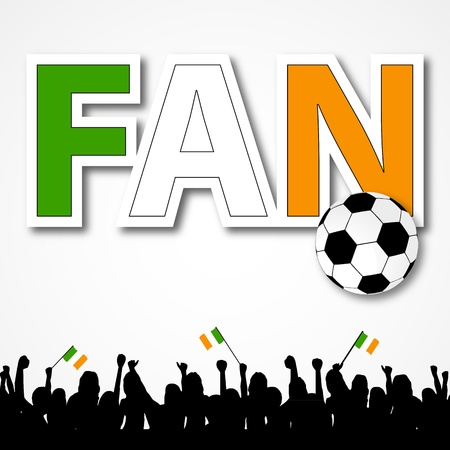 Soccer Fan Ireland Vector