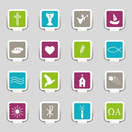 16 Icons Religion Vector