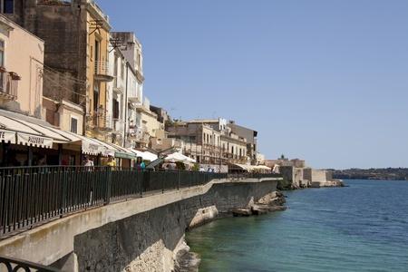 aereal: Siracusa, Ortigia, Island, Sicily, Italy