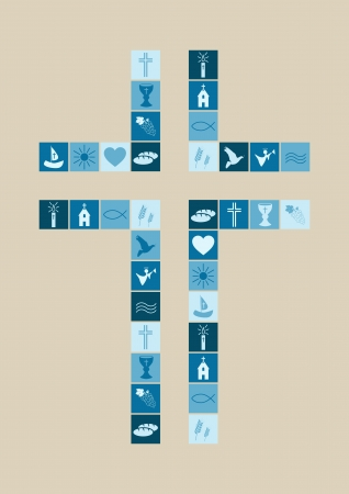 Christelijke religie symbolen jongen