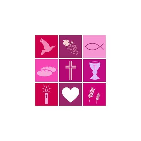 comunion: Comunión Niña Vectores