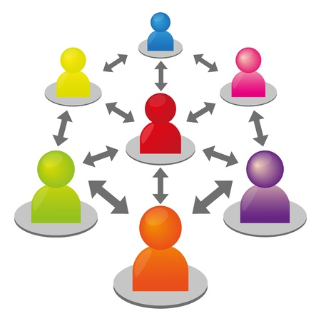 Social media circle Stock Vector - 14252116