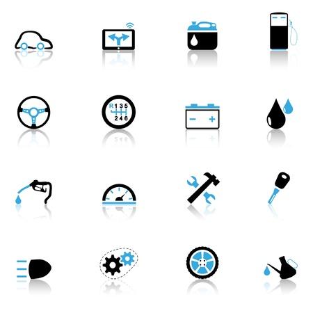 tacometro: Iconos de fijar las partes de autom�viles