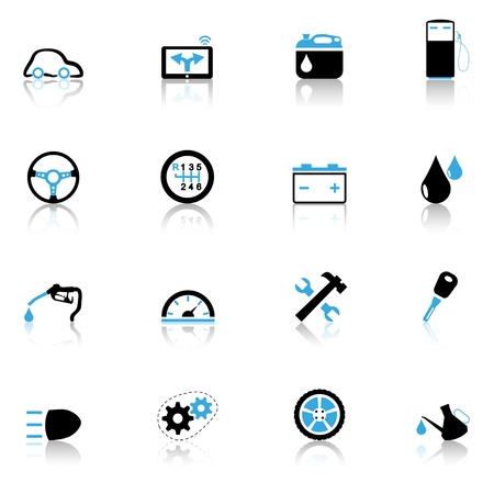 Icons set Auto parts Vector