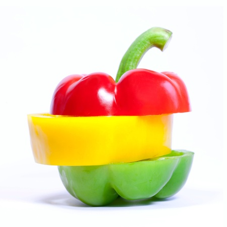 Bell pepper slices Stock Photo - 13926917