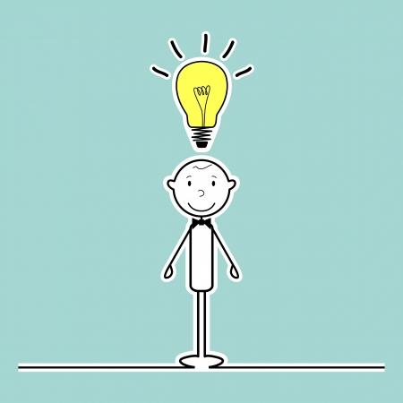Stickman with idea