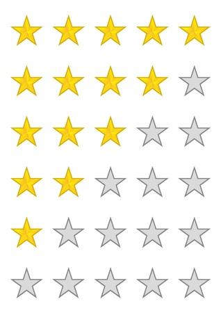 Five stars ratings Illustration