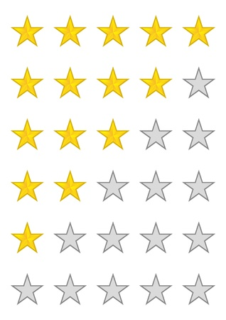 classify: Five stars ratings Illustration