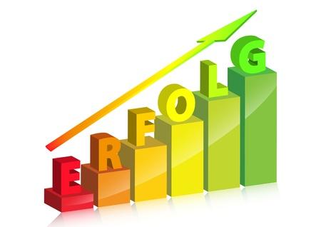 earnings: 3D-Graph, der Anstieg der Gewinne oder Profite Illustration