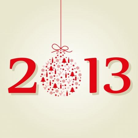 Christmas 2013 balls New Year Stock Vector - 14420342
