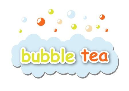 milk tea: Bubble tea Illustration