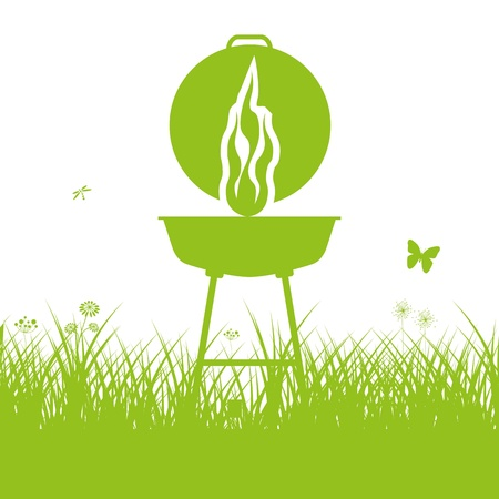 Barbecue BBQ Silhouette Vector
