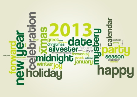 Concept of 2013 year theme  word cloud  Vector