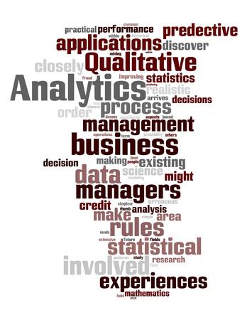 predictive: Analytics parole Vettoriali