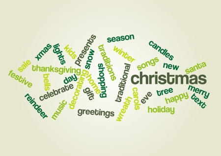 CHRISTMAS  Word collage Vector