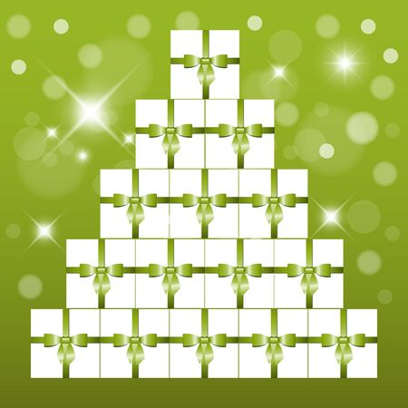 pyramid consisting of gifts Vector