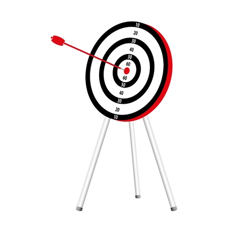 3d target and arrow Vector