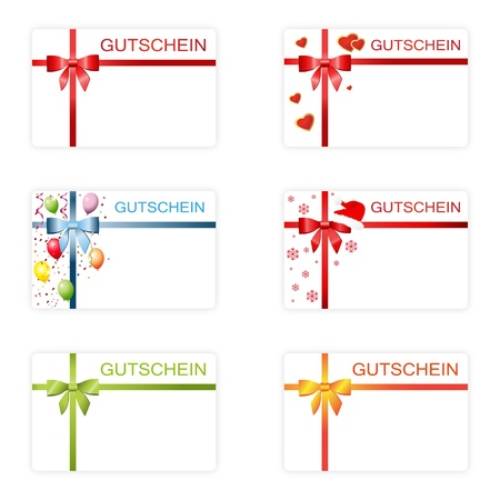 Many gift cards Vector