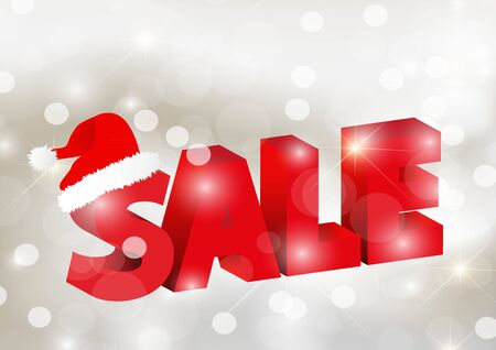 3D Sale for christmas Stock Vector - 15593594