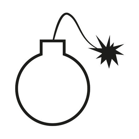 explosive sign: Cartoon style bomb Illustration