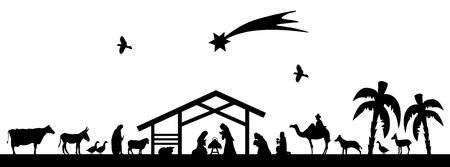Scène de Bethléem Vecteurs