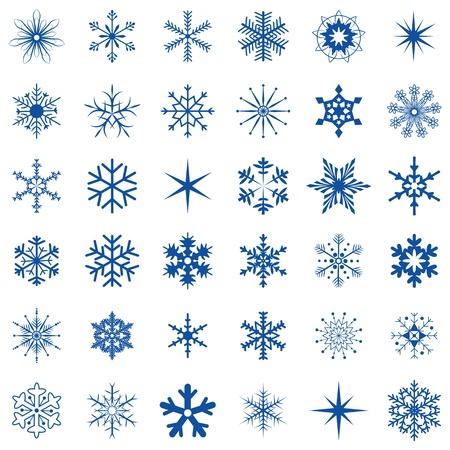 36 snowflakes Illustration